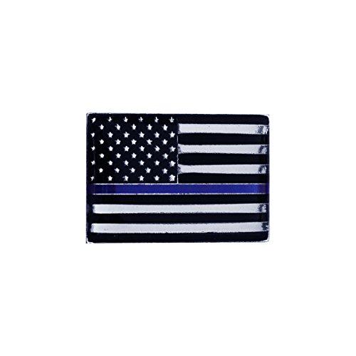 Thin Blue Line Police Lives Matter Lapel Collar Pin US Flag Uniform Tie Tack - Lapel Pin Signed