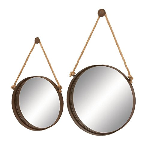 Deco 79 Nautical Decor Looking Glass Ocean Porthole Mirror Set by Deco 79