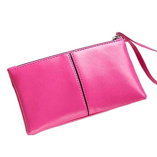 wallet Clutch Zipper Handbags Hot Wristlet 2018 leather Wallet Leather Pink Long Women Clearance PU Noopvan Purse PU Wallets zfZw8nq