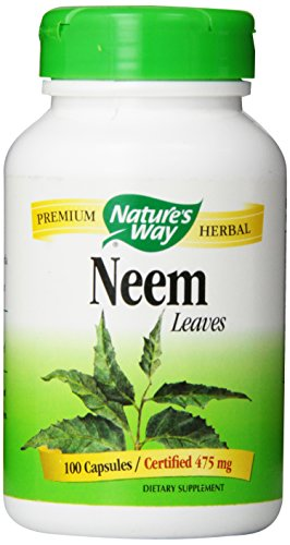 Natures Way Neem Leaves 475 mg 100  Capsules