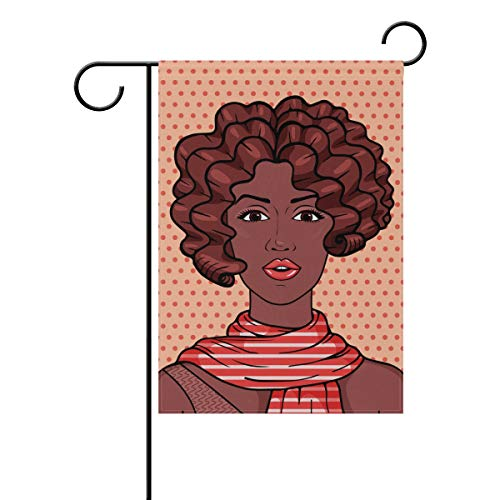 senya Double Sided Yard Garden Flag, Vintage Romantic Africa