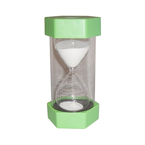 VStoy Security Fashion Hourglass 10 Minutes 60 Minutes Sand Timer (Pale green 60 Minutes)