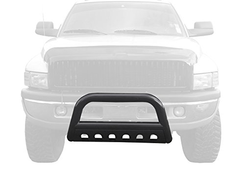 Tyger Black Bull Bar Bumper Brush Guard with Skid Plate Fits 94-01 Ram 1500/94-02 Ram 2500/3500 (Excl Sport Models) ()