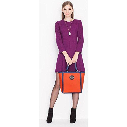 Trend Star Mujeres diseñador hombro Bolsos Mujer berühmtheit estilo piel sintética Tragetaschen F - Orange