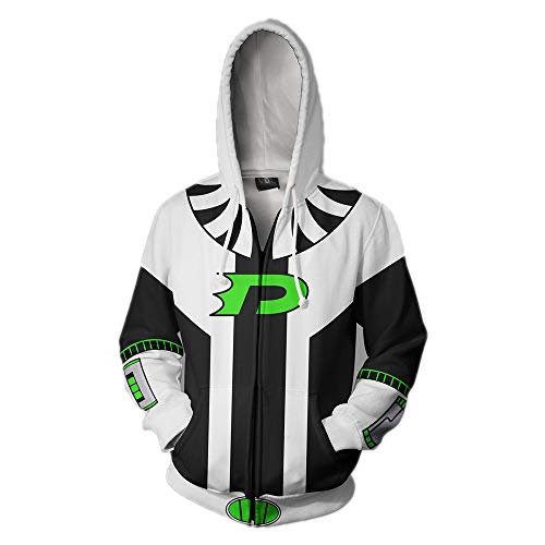 Xinxin Danny Phantom Anime 3D Cosplay Cardigan Zip
