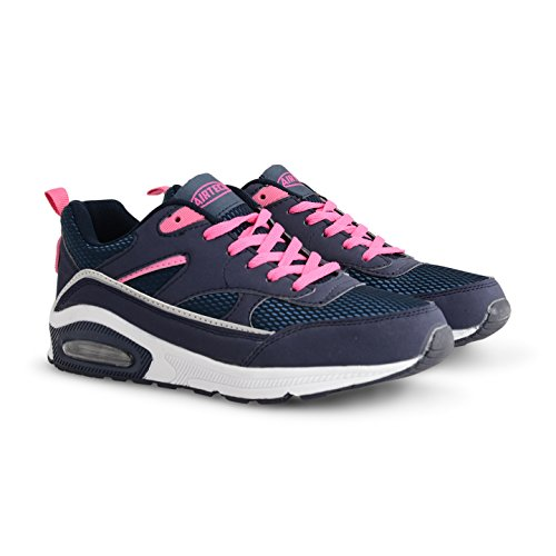 Trainer Trainers Fitness Navy Absorbing Jogging Shock Pink Womens Girls Running Shoe Gym Legacy R8vqw
