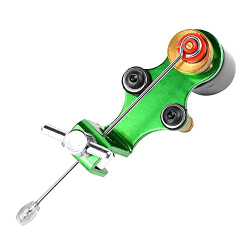 Professional Tattoo Machine Pen Rotary Tattoo Motor Set Dragonfly Tattoo Complete Kit Body Art Tattoo Supplies Shader Assorted Color for Artists (Green) ()