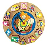 Fisher-Price Wood Discovery Time Puzzle Clock