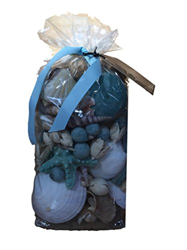 Ocean Breeze with Seashells Fragrant and Decorative Potpourri Bag, 8 Oz Bag by M Botanicals