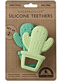 Silicone Teether Set-of-Two, Happy Cactus