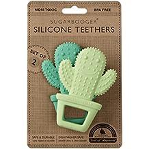 [Patrocinado] Sugarbooger Mordedor de Silicona set-of-two, Happy Cactus