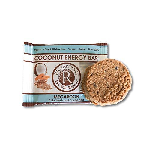 Rickaroons Coconut Energy Bars (Megaroon) - Vegan, Gluten Free, Organic, Paleo, 1.6 Ounce (12 Count) -