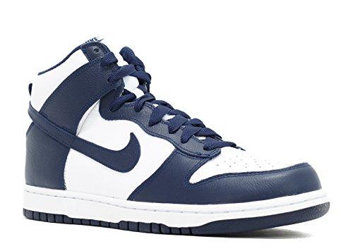 NIKE Dunk Retro QS Men's Shoes White/Midnight Navy 850477-103