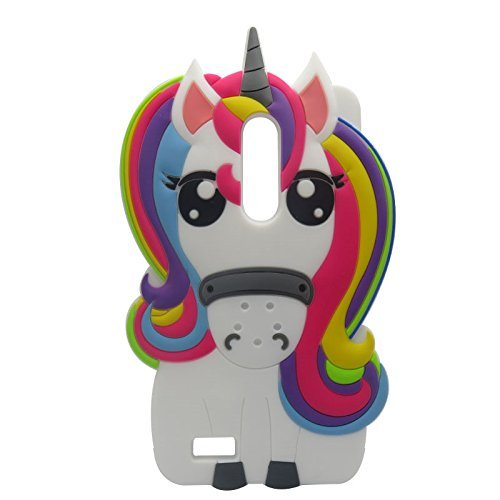 Rainbow Unicorn ZTE ZTE ZMAX Pro/Carry Z981 Case,Awin 3D Cute Cartoon  Rainbow Unicorn Horse Animal Soft Silicone Rubber Case for ZTE ZMAX Pro/ZTE