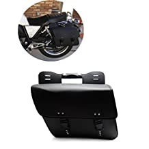 Motorcycle Motorbike Saddlebag Luggage Rack Side Bag PU Leather Saddle Bag Pannier