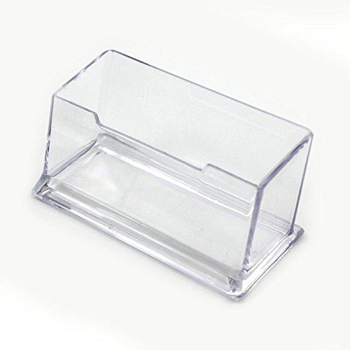 Arpoador 1PC plastica dura trasparente semplice lattice biglietti