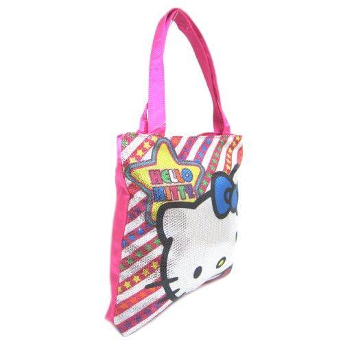 Hello Kitty Metallic Pop Tote Bag, Pink Multi