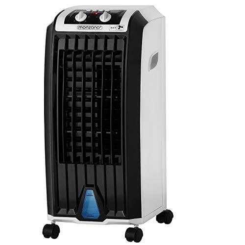 🥇 Deuba Climatizador móvil 4en1 ventilador humidificador ionizador purificador de aire acondicionar aire acondicionado 75W tanque 5L