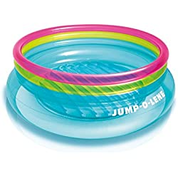 "Intex Jump-O-Lene Inflatable Bouncer, 80"" x 27"", for Ages 3-6, Colors May Vary"
