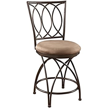 Surprising Powell Big And Tall Metal Crossed Legs Counter Stool 9 49 X 21 26 X 43 31 Seat Height 24 Bronze Mocha Squirreltailoven Fun Painted Chair Ideas Images Squirreltailovenorg