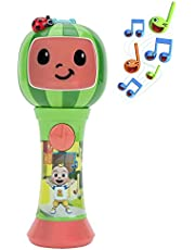 First Act CoComelon Musical Sing-Along Microphone Plays Clips of The 'Thank You' Song - Musical Instruments for Kids, Toddlers, and Preschoolers