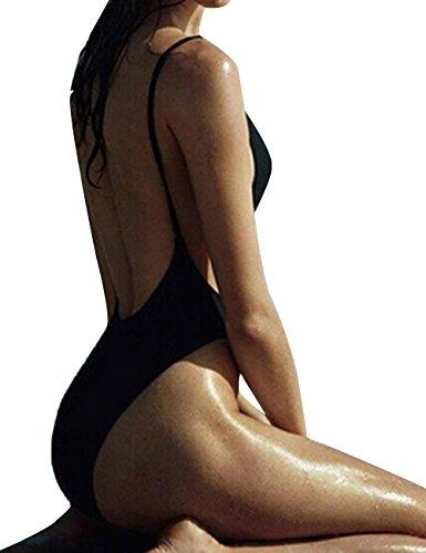 Summer Women One-Piece Monokini Swimsuit High Cut Out Swimwear Bikini Bodysuit