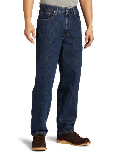 Levi's Men's 560 Comfort Fit Jean, Dark Stonewash, 42x30 Levis Relaxed Fit Tapered Leg