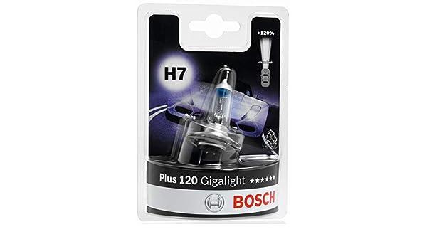 H7 Halogen Bulbs 2pcs 12V 55W GIGALIGHT Plus 120 BOSCH 1987301107