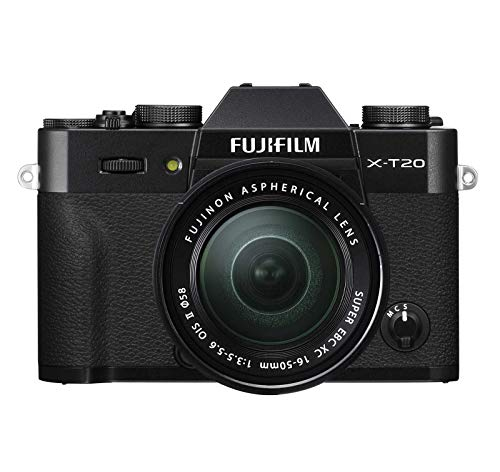 Fujifilm X-T20 Mirrorless Digital Camera w/XC16-50mmF3.5-5.6 OISII Lens - Black (Certified Refurbished)