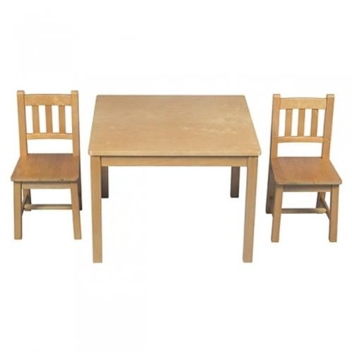 Guidecraft New Mission Kid's 3 Piece Table and Chair Set, Honey Oak