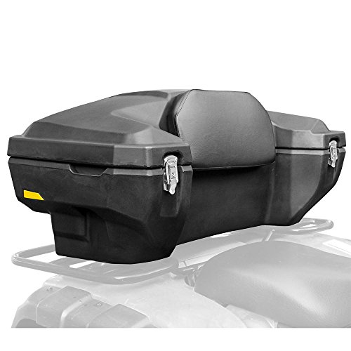 Rage Powersports Lockable Hard-Side Rear ATV Storage Box with Padded Backrest