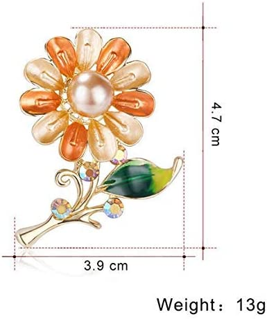 YRUI Vintage Personality Flowers Design Brooch Wedding Bridal Brooch Pin Covered Scarves Shawl Clip for Womens Ladies Jewelry