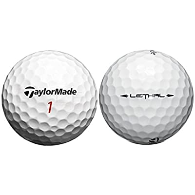 LostGolfBalls TaylorMade Lethal Golf Balls, White (Refurbished) (Pack of 36)