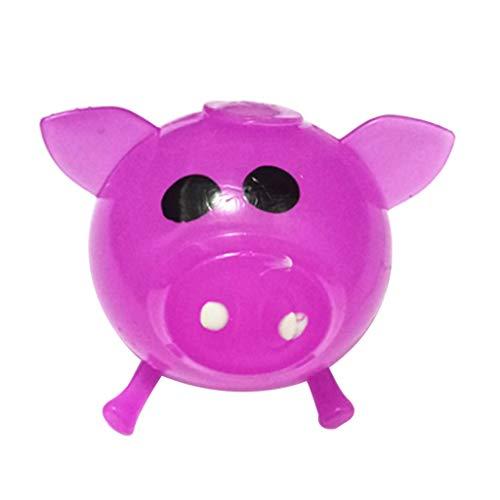 Hot Sale!UMFun 1Pcs Jello Pig Cute Anti Stress Splat Water Pig Ball Vent Toy Venting Sticky (Purple) ()
