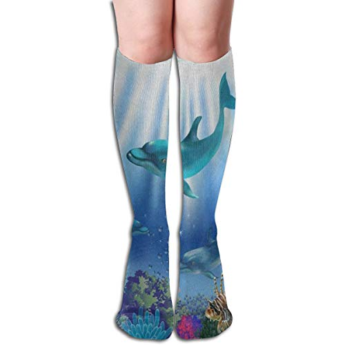 Socks Ocean Sea Dolphin Fish Coral Reef Custom Personalized Womens Stocking Decoration Sock Clearance For Girls