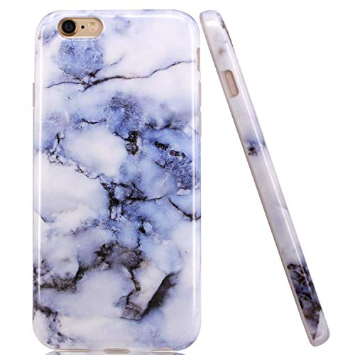 - luolnh iPhone 5 Case,iPhone 5S Case, IMD Design Marble Pattern Stone Texture Anti-Slip Shockproof Clear Bumper TPU Soft Case Rubber Silicone Skin Cover Case for iPhone 5 5S SE(White)