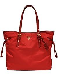 dd773b2d8 Prada BR4997 Tessuto Saffian Shopping Tote Bag Large Rosso Red Shoulder Handbag  Purse