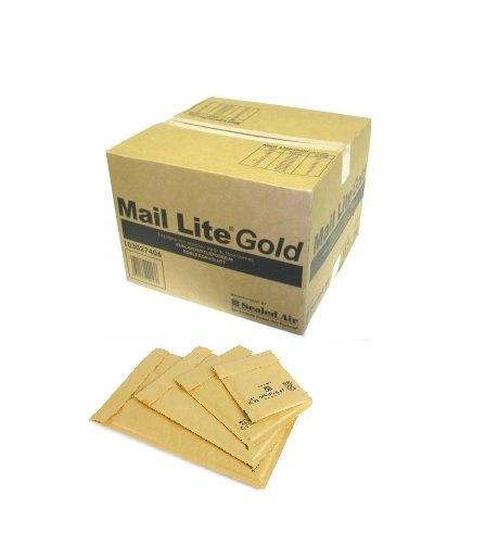 Mail Lite - Busta imbottita a chiusura facile, formato G4, confezione da 50, colore: Avana G/4-Gold