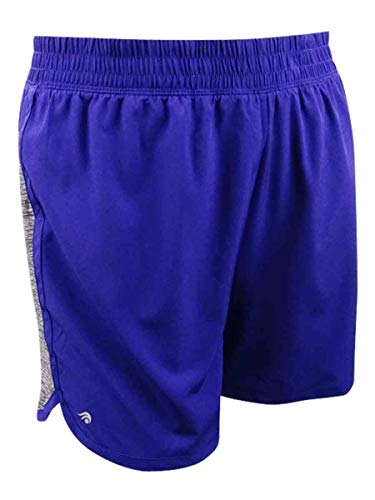 Ideology Women's Plus Size Mixed-Media 2-In-1 Shorts (Blazing Purple, 3X Plus) ()