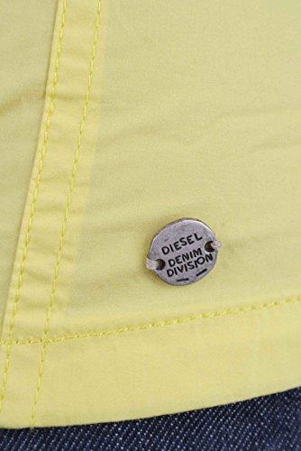 Diesel zepte chemisier manches courtes-femme-jaune-taille xXS