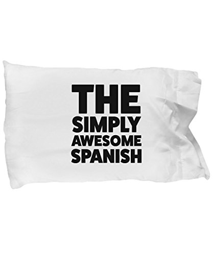 Spanish Pillow Case - Funny Spanish Gifts for Pride Moms Dads People Who Love or From Spain - Awesome Spanish Birthday Gifts Mothers Day Fathers Day by DesiDD