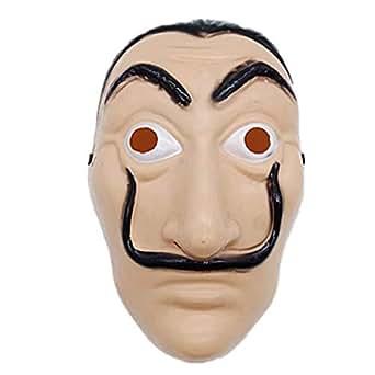 Salvador Dali La Casa De Papel Mascara Money Heist Face Mask PVC Mask Cosplay Realistic Movie Prop Face Mask