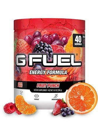G Fuel Fruit Punch Tub (40 Servings) Elite Energy and Endurance Formula (G Fuel Flavors)
