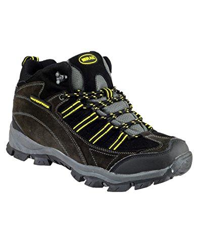 Mirak Kentucky Hombres Senderismo Botas Pu Superior Botas Hombres Neuva Hiking Grey/Yellow