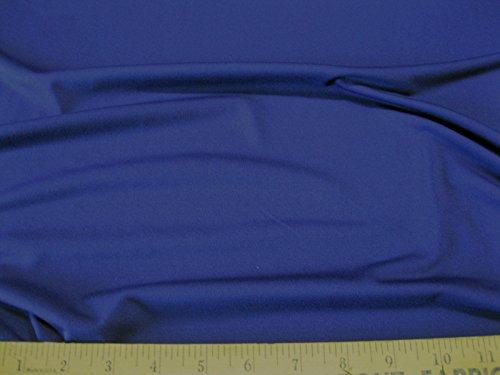 Discount Fabric Polyester Lycra Spandex 4 way Super Stretch Navy Matt Finish LY989 (10 Yard Lot ()