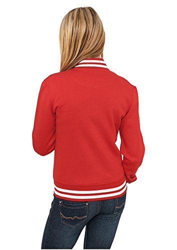 Giacca Ladies Urban Classics Rosso Donna College Sportiva Sweatjacket w4qxpBT