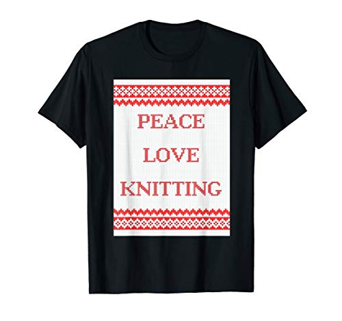 Peace Love Knitting T-Shirt ()