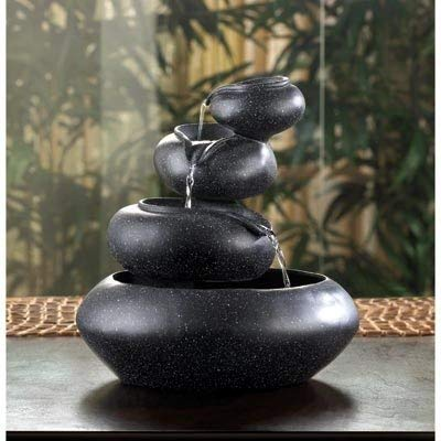 Relaxation Fountains Tabletop Garden Pump Indoor Outdoor Water Mainstays Feng Sui Waterfall Home Tranquility