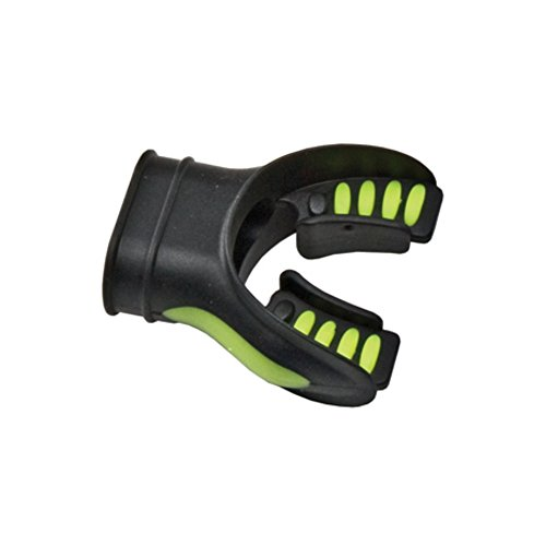(Silicone Mouthpiece w/ Color Tab Replacement Scuba Regulator Comfort Fit Mouth Piece (Black/Yellow) )