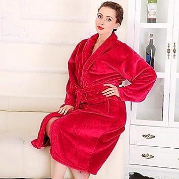 serviette- bata de baño, mujer de gran clase color rojo ropa Albornoz épaissir suave, XL: Amazon.es: Hogar